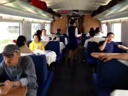 food cart on high speed rail